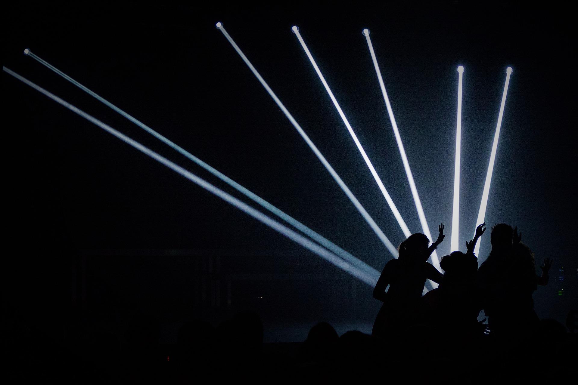 lys, fest, stropelys, mennesker